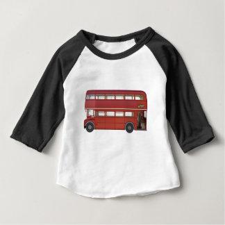 Camiseta Para Bebê Ônibus do vermelho do autocarro de dois andares
