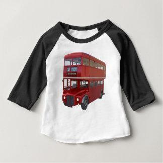 Camiseta Para Bebê Ônibus vermelho do autocarro de dois andares no