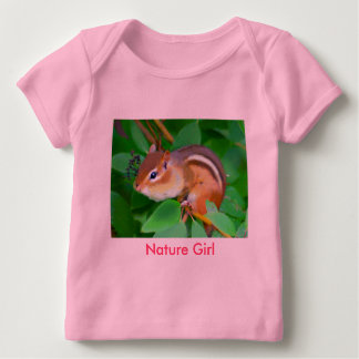 Camiseta Para Bebê Onsie do Chipmunk, menina da natureza