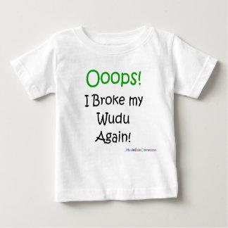 Camiseta Para Bebê Oops eu quebrei meu wudu outra vez!