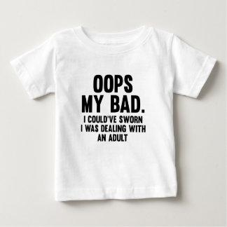 Camiseta Para Bebê Oops meu mau