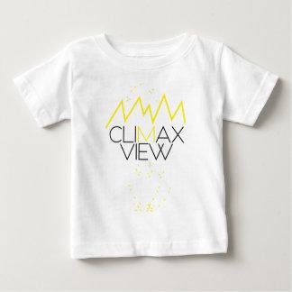 Camiseta Para Bebê Opinião do climax (amarelo e preto)