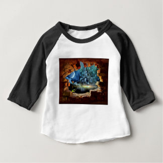 Camiseta Para Bebê Opinião quebrada da parede