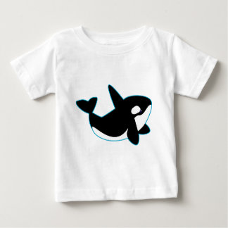 Camiseta Para Bebê Orca bonito (baleia de assassino)