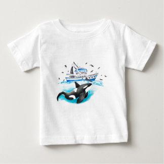 Camiseta Para Bebê Orca e o barco