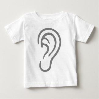 Camiseta Para Bebê Orelha que escuta