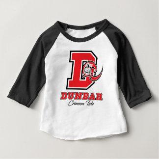 Camiseta Para Bebê Orgulho carmesim da maré de Dunbar