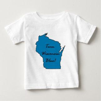 Camiseta Para Bebê Orgulho Democrática de Wisconsin! Gire Wisconsin