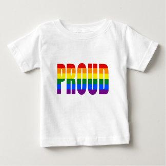 Camiseta Para Bebê ORGULHOSO (arco-íris)