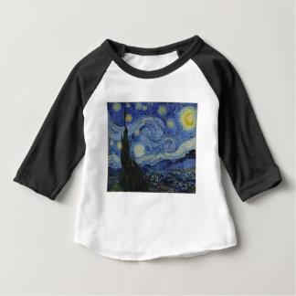 Camiseta Para Bebê Original a pintura da noite estrelado