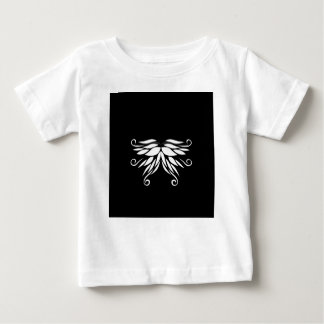 Camiseta Para Bebê Ornamento brancos pretos do Nordic de Sibéria