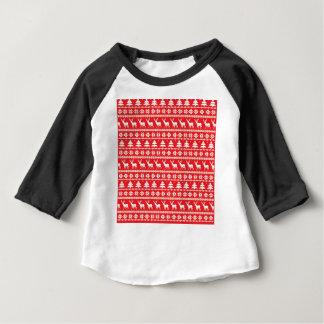 Camiseta Para Bebê Ornamento da camisola do Natal ou dos povos do