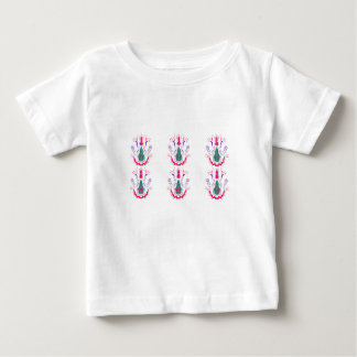 Camiseta Para Bebê Ornamento populares brancos vermelhos