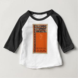 Camiseta Para Bebê Orquestra sinfónica do vintage