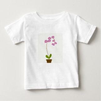 Camiseta Para Bebê orquídeas