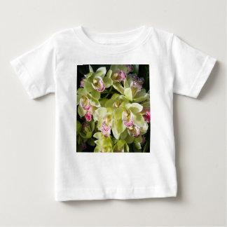 Camiseta Para Bebê Orquídeas amarelas grandes do barco