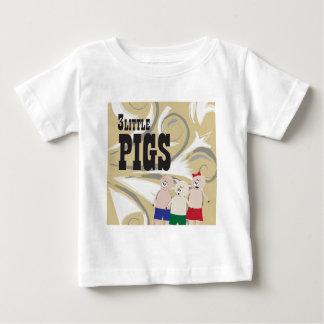 Camiseta Para Bebê Os 3 porcos pequenos