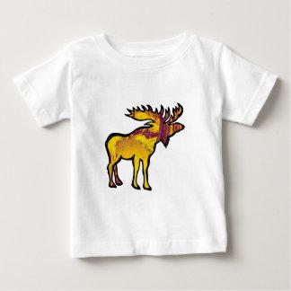 Camiseta Para Bebê Os alces dourados