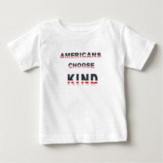 Camiseta Para Bebê Os americanos escolhem o tipo