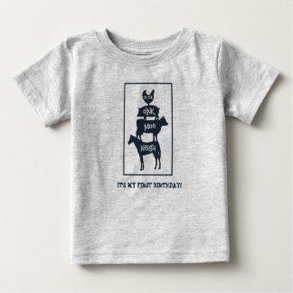 Camiseta Para Bebê Os animais de fazenda empilhados personalizaram o