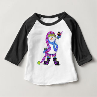 Camiseta Para Bebê Os bonecos de neve brilhantes DEIXARAM-NO NEVAR!