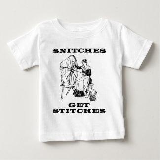 Camiseta Para Bebê Os bufos obtêm pontos que Sewing a chalaça da