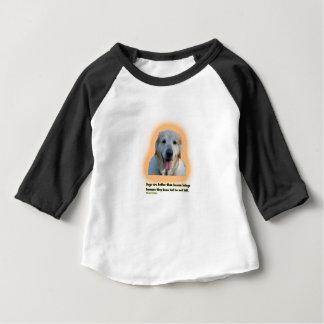 Camiseta Para Bebê Os cães são melhores do que seres humanos