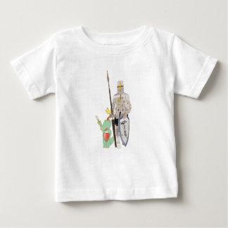 Camiseta Para Bebê Os cavaleiros, ilustração bonito dos animais