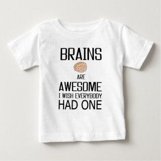 Camiseta Para Bebê Os cérebros são impressionantes