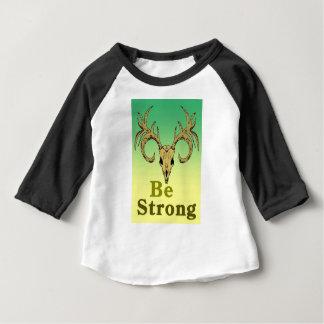 Camiseta Para Bebê Os cervos do crânio sejam citações fortes
