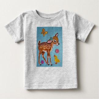 Camiseta Para Bebê Os cervos Fawn & dos miúdos originais da arte do