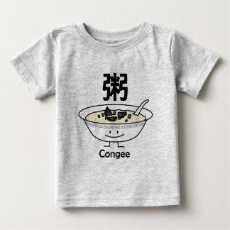 Camiseta Para Bebê Os chineses da bacia do gruel do papa de aveia do