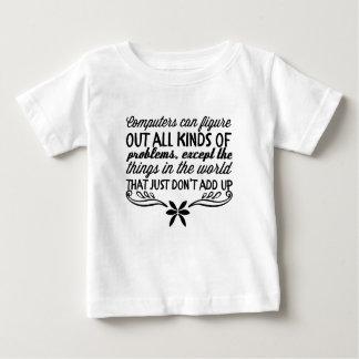 Camiseta Para Bebê Os computadores podem figurar para fora todos os