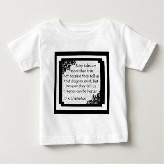 Camiseta Para Bebê Os contos de fadas são… Roupa do bebê