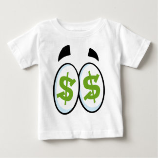 Camiseta Para Bebê Os desenhos animados do sinal de dólar Eyes o