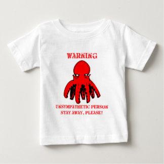 Camiseta Para Bebê os desenhos animados engraçados do polvo