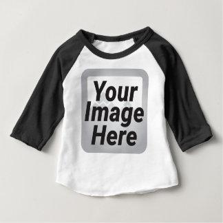 Camiseta Para Bebê Os desenhos animados felizes manuseiam acima do