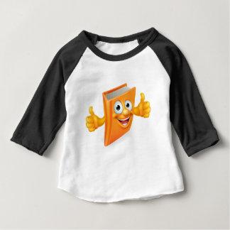Camiseta Para Bebê Os desenhos animados manuseiam acima do livro