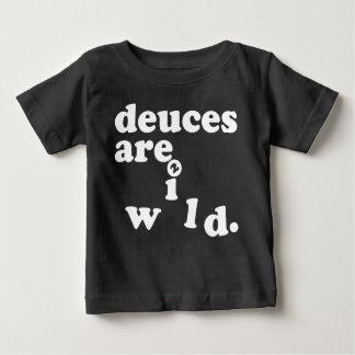 Camiseta Para Bebê os empates são T selvagem do aniversário