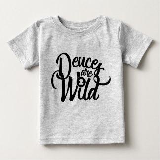 Camiseta Para Bebê os empates são T selvagem do aniversário (do bebê)