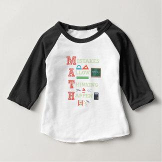 Camiseta Para Bebê Os erros reservam pensar para acontecer professor