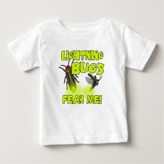 Camiseta Para Bebê Os insetos de relâmpago temem-me
