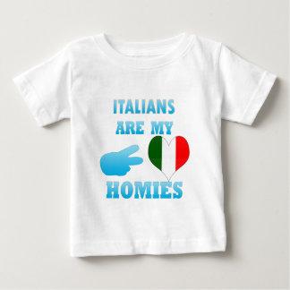 Camiseta Para Bebê Os italianos são meu Homies