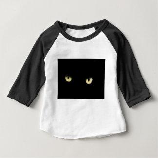 Camiseta Para Bebê Os olhos de gato preto