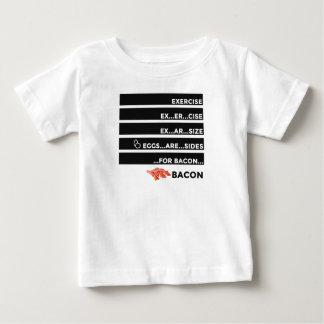 Camiseta Para Bebê Os ovos são lados para o bacon