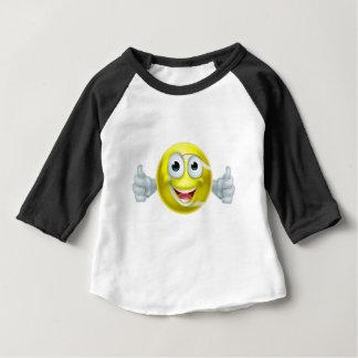 Camiseta Para Bebê Os polegares da bola de tênis dos desenhos