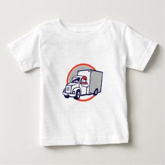 Camiseta Para Bebê Os polegares do motorista de Van de entrega
