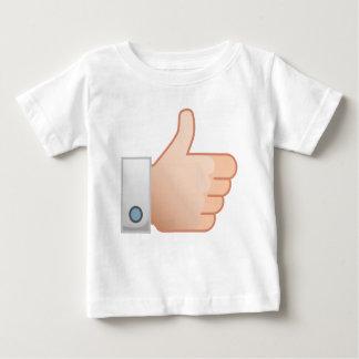 Camiseta Para Bebê Os polegares gostam acima