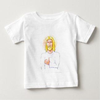 Camiseta Para Bebê Os polegares levantam Jesus