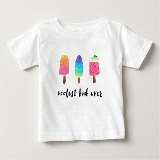 Camiseta Para Bebê Os Popsicles sempre coloridos os mais frescos da